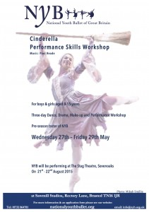 Cinderella Performance Skills Workshops Flyer